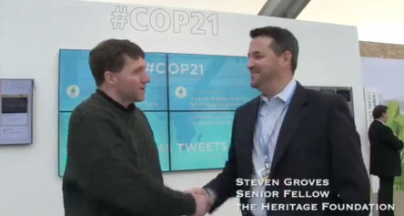 Interview with Heritage Foundation's Steven Groves from COP 21