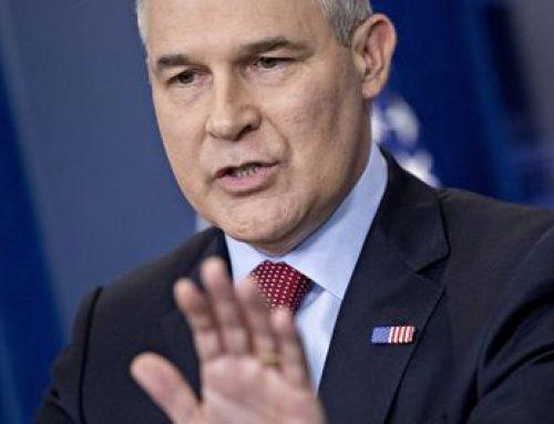Bloomberg News: EPA Chief Scott Pruitt Resigns Amid Crush of Scandals