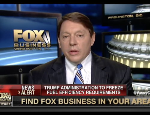 E&E Legal's Steve Milloy's Appearance on Fox Business News to Discuss Pres. Trump's Decision to Freeze Fuel Standards