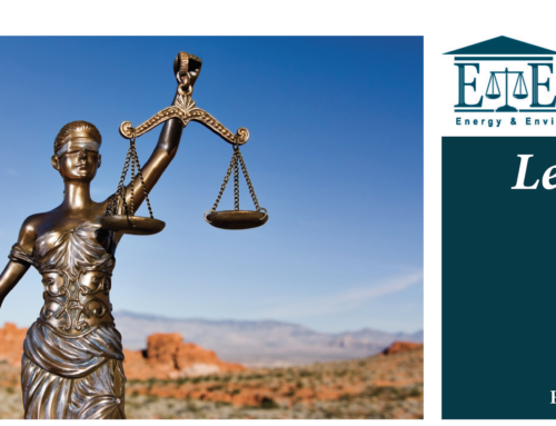 E&E Legal Letters Issue XXI: Fall 2018