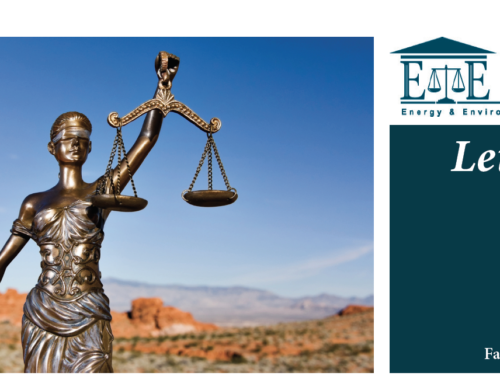 E&E Legal Letters Issue XXV: Fall 2019