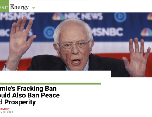 Milloy: Bernie's Fracking Ban Would Also Ban Peace and Prosperity