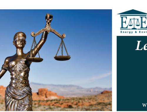 E&E Legal Letters Issue XXVI: Winter 2020