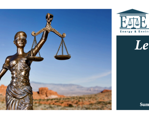 E&E Legal Letters Issue XXVIII: Summer 2020