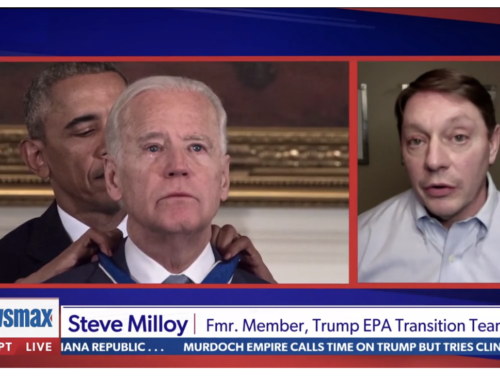 Milloy talks Biden, climate on Newsmax with Chris Salcedo