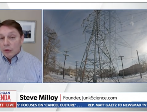 Steve Milloy talks the Great Texas Windmill Disaster on Newsmax (3/8/21)