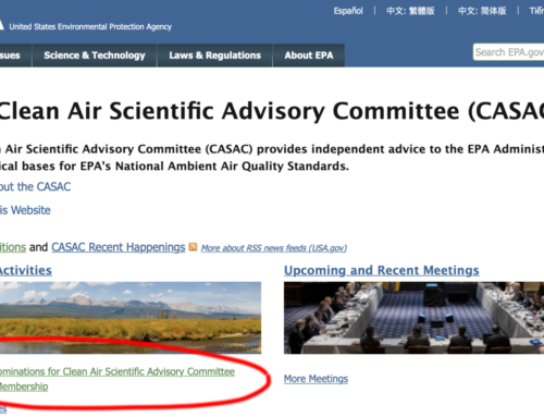 Steve Milloy comments to EPA on selection of air quality science advisory board members