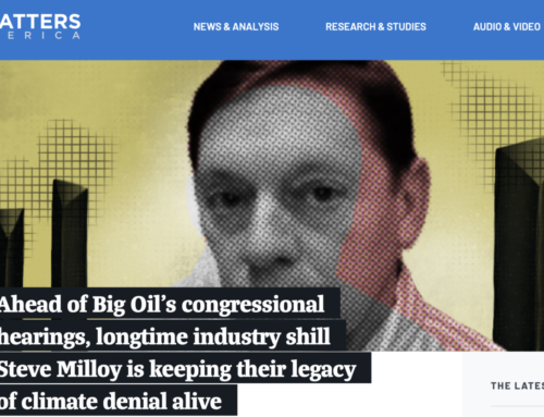 Milloy's New Business Card Courtesy of George Soros